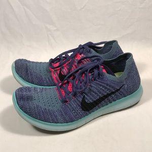 Nike Free Flyknit RN Knit Running Shoes Women 10